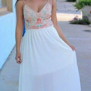 Athen's style sheer maxi dress